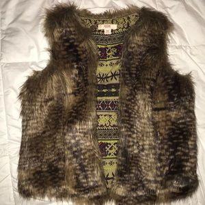 LIKE NEW Faux Fur Vest